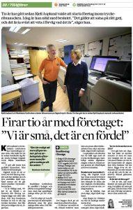 Reportage i Borås Tidning